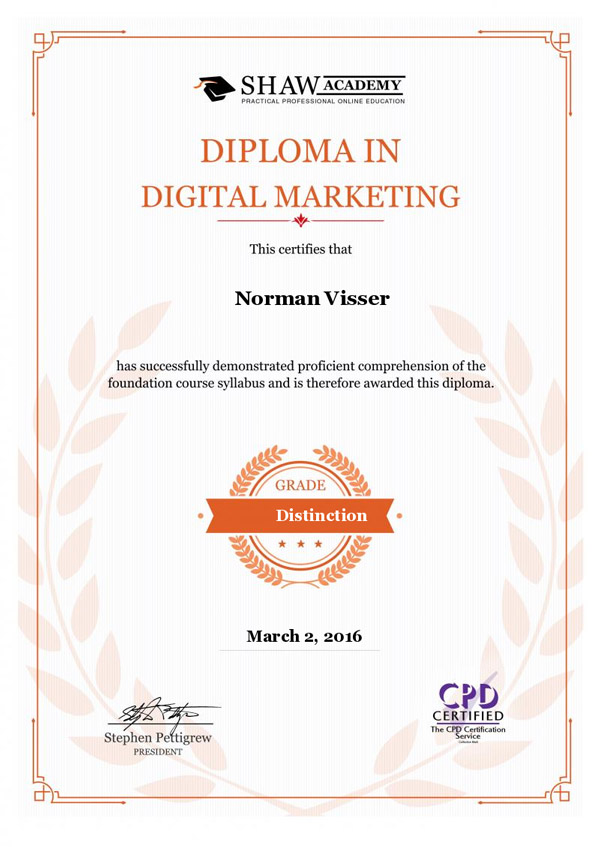 Diploma in Digital Marketing RedHot Design